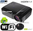 Android WIFI LED+LCD Projector With 1280*800, Support 720p,1080i,1080p
