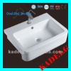 western rectangle bathroom ceramic wash sink