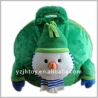 Plush Bouncing Ball Toy With Green Snowman Clothes ,Kids Jumping Ball,Skipped Ball