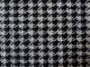 Knitted houndstooth wool fabric