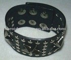 PU leather bracelet/ leather wristband with embossed logo