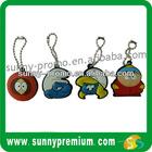 Promotion Custom shape Rubber soft PVC Keychain,keyring