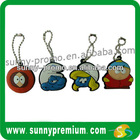 Promotion Custom shape Rubber soft PVC Keychain,keyring