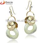 Exquisite natural gem dangle earrings