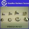 brush bronze plating double head rivets fasteners