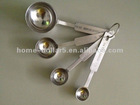 4PC STAINLESS STEEL MEASURING SPOONS
