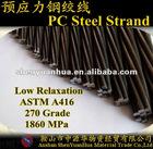 15.24mm PC Steel Strand for Bridge 270K ASTMA416
