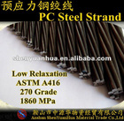 15.24mm PC Steel Strand for Bridge 270K ASTMA416