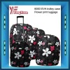 "flower print luggage/600D eva trolley case/flower pattern luggage/flower design luggage17.5""23.5""27.5"""