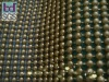 gloden metallic beads curtain, gloden metallic beaded curtain