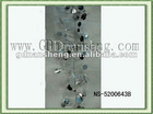 silver christmas wired tinsel garland