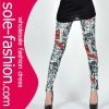 Hottest Sale 2012 Letter Symbolled Fashion Ladies Legwear For Wholesale