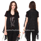 Stylish designer front-open blouse