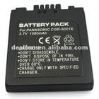 3.7V 1080mah camera battery back for PANASONIC CGR-S001E