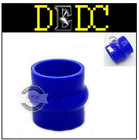 """DEDC 64mm 2.5""""to2.5"""" Hump Silicone Straight Coupler Hose Turbo Intercooler Blue"""
