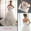 Heart-Shape Neckline Applique Taffeta&Tulle Wedding Dress HT-0875