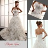 Heart-Shape Neckline Applique Taffeta&Tulle Wedding Dress HT-0875