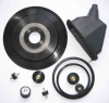 Rubber and metal bonded parts