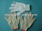 100% cotton white farm safety gloves