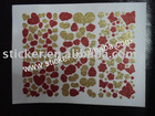 Custom Cut Glitter Heart Shaped Sticker Sheet