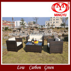 Aluminum frame Rattan furniture with sofas