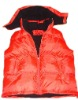 lady padded winter vest with hood