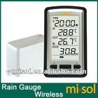 wireless rain meter w/ thermometer, rain gauge Weather Station for in/out temperature