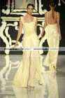 2013 New arrival glamorous body yellow style beadings flow evening dress