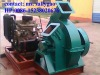 Diesel generator driven wood tree chipping machine