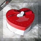 Jewelry heart shape art paper gift packing box