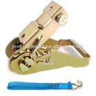 ratchet tie down cargo lashing belt