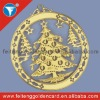 Brass Etched Manufacturer Metal Christmas Ornament