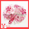 pink apple style rhinestone brooch