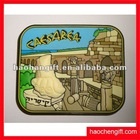 Advertising place logo rubber fridge magnet
