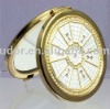 Metal pocket mirror,promotional compact mirror gifts with Swarovski crystal inlayed G9828