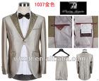 Gold fashion western design slim fit 1 button wedding men suits 2012
