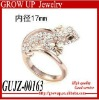 Wholesale latest crystal fashion gecko ring 2012