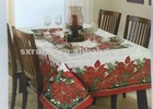 Print Jacquard Polyester /Cotton Fabric family tablecloth