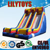 Double lane inflatable kids slide for outdoor play