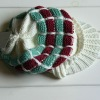 Beautiful knitted hat with visor