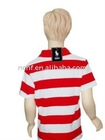 Boys' latest fashion large striped cotton polo shirts