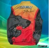 sublimated cycling wear with 100% polyester