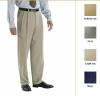 Men's Plain-Front Fluid Stretch Dress Trousers