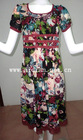 Latest elegant wholesale flower casual dress for women