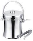 Stainless Steel Ice Bucket with Ice tong
