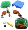 Trailer net and tie down kit