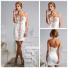 Ravishingly Accented Sweetheart White Cocktail Dress Gown 2013