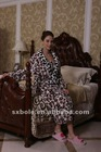 TWO WINGS fashion leopard winter flannel pajamas for women