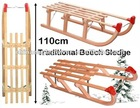 Davos Traditional - 110cm Beech Wood Sledge