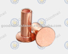 Brass tubular rivet and Copper tubular rivet